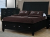 Coaster - Sandy Beach Queen Bed in Black Finish - 201329Q