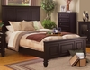 Coaster - Sandy Beach Queen Bed in Cappuccino Finish - 201991Q