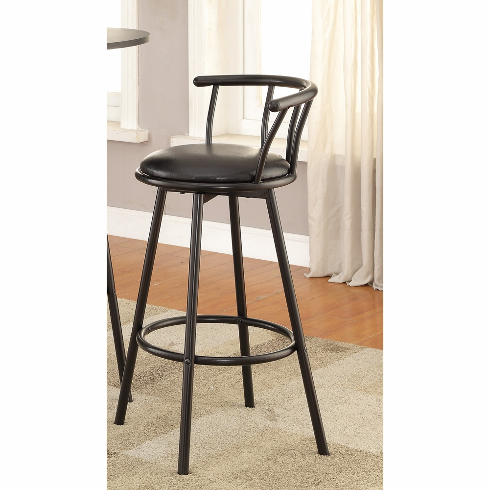Miraculous Coaster Satin Black 29 Bar Stool Set Of 2 2398 Gamerscity Chair Design For Home Gamerscityorg