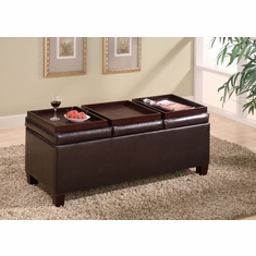 Coaster Storage Ottoman Dark Brown 501036