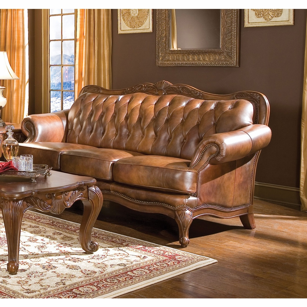 Coaster Victoria Sofa Warm Brown 500681