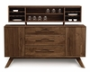 Copeland Furniture - Audrey 1 Door On Either Side Of 3 Drawers Buffet And Hutch In Natural Walnut