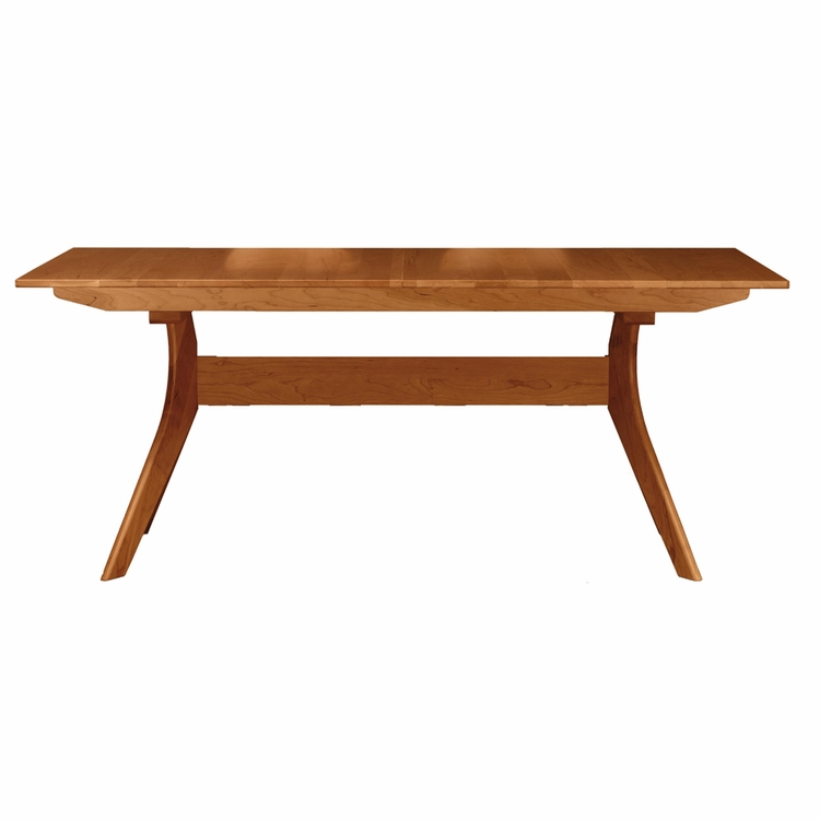 "Copeland Furniture - Audrey 60"" Extension Table With Easystow Extension And Leaf Storage - 6-AUD-23"