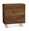 Copeland Furniture - Canto 4 Drawer Dresser in Natural Walnut - 2-CAN-40-04