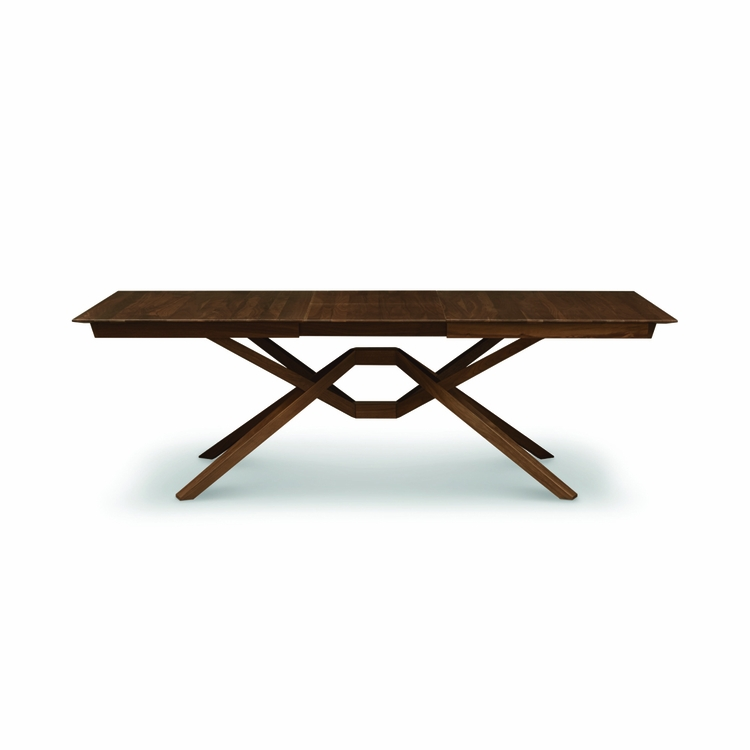 """Copeland Furniture - Exeter 42"""" X 72"""" Extension Table With One Leaf (Leaf Is 24"""" Wide) In Natural Walnut - 6-EXE-21-04"""