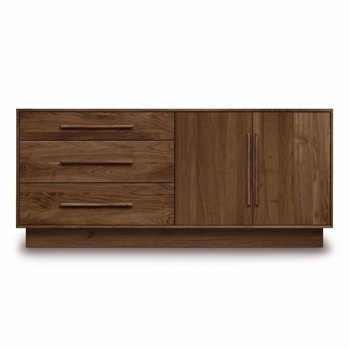 """Copeland Furniture - Moduluxe 29"""" 3 Drawers On Left, 2 Doors On Right Dresser - 4-MOD-52"""