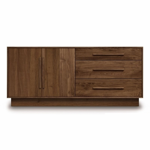 """Copeland Furniture - Moduluxe 29"""" 3 Drawers On Right, 2 Doors On Left Dresser - 4-MOD-51"""