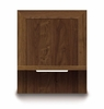 "Copeland Furniture - Moduluxe 29"" High Shelf Nightstand To Match Plinth Base Bed - 24"" Wide In Natural Walnut - 2-MOD-04"