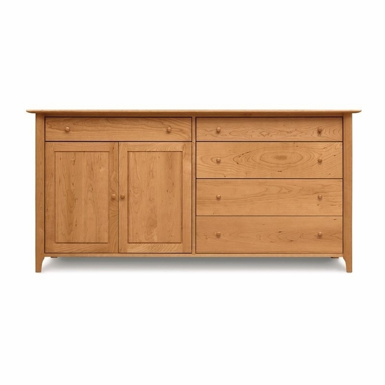 Copeland Furniture - Sarah 4 Drawers On Right, 1 Drawer Over 2 Doors On Left Buffet - 6-SAR-71