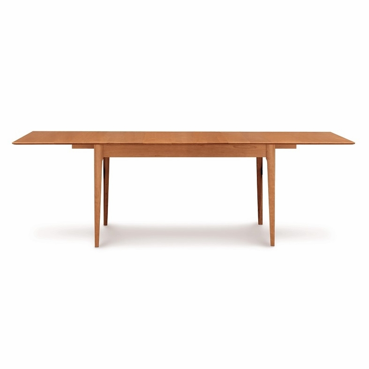 "Copeland Furniture - Sarah 66"" Four Leg Extension Table With Easystow Extension And Leaf Storage - 6-SAR-26"