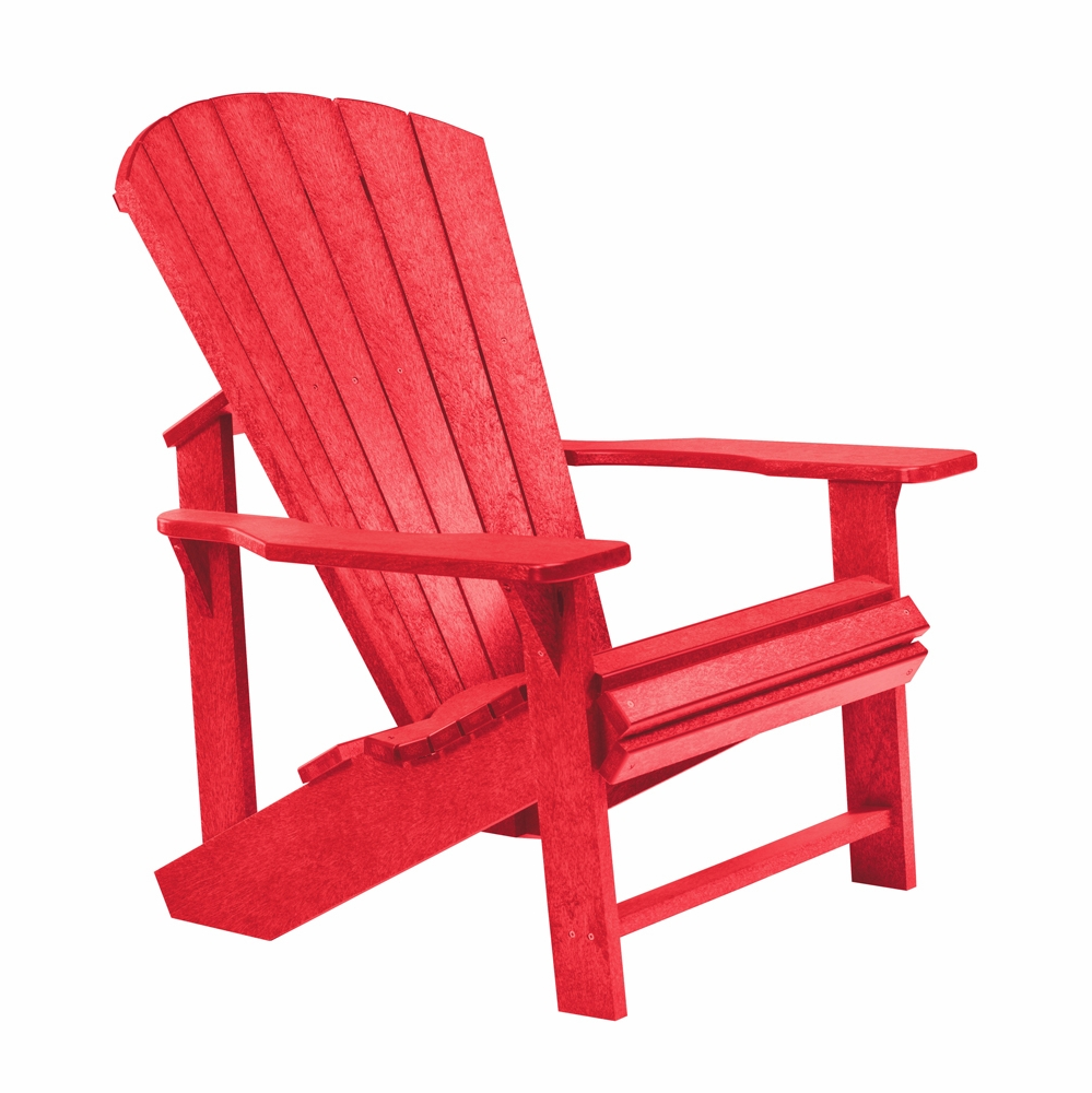 Cr Plastic Products Generations Adirondack Chair In Red