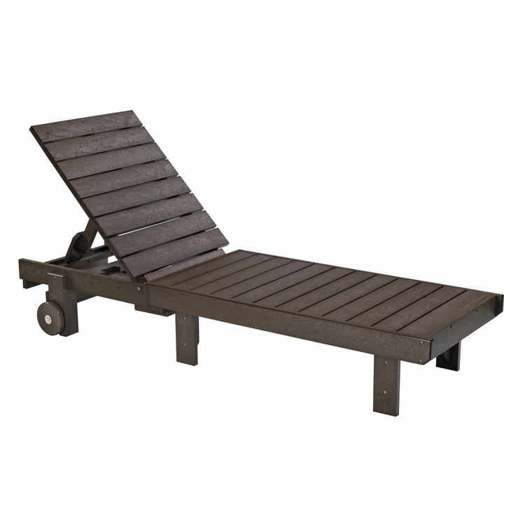 CR Plastic Products - Generations Chaise Lounge with wheels in Chocolate - L78-16