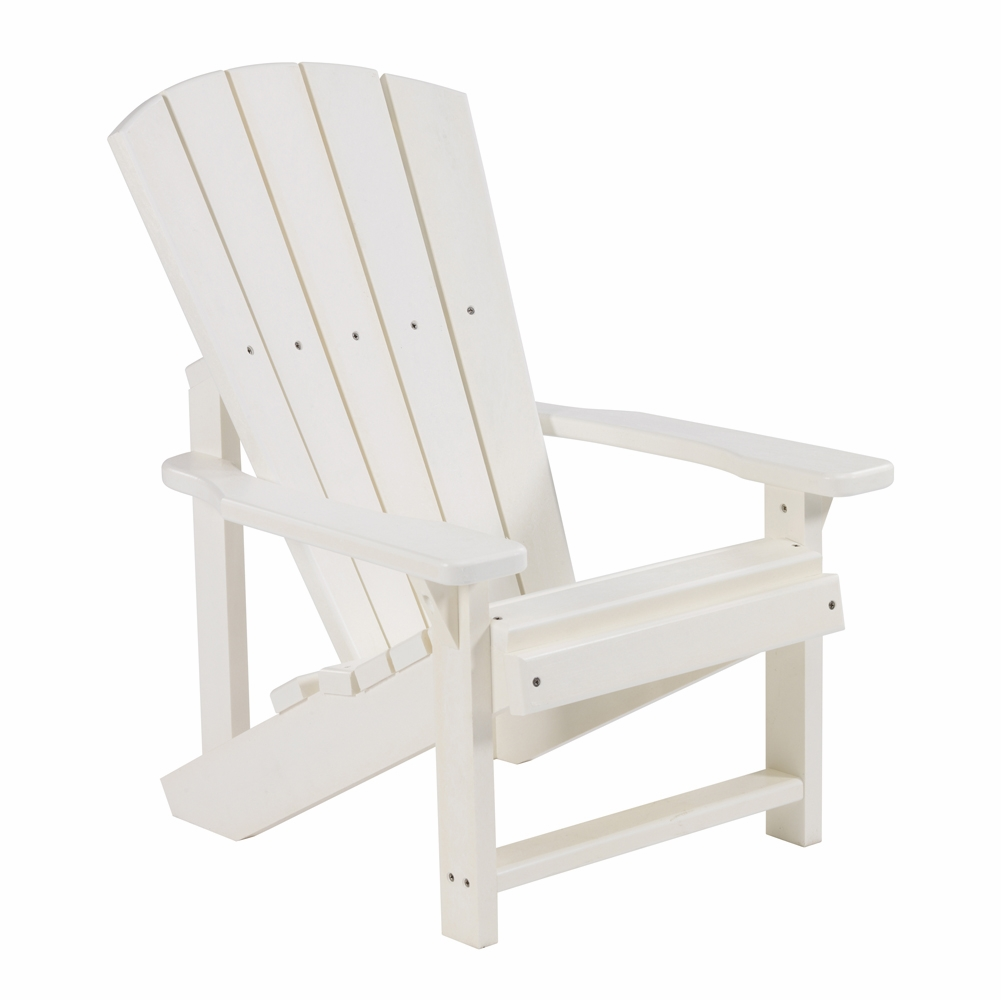 CR Plastic Products   Generations Kids Adirondack Chair In White   C08 02