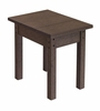 CR Plastic Products - Generations Small Side Table in Chocolate - T01-16