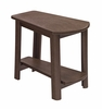 CR Plastic Products - Generations Tapered Style Accent Table in Chocolate - T04-16