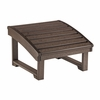 CR Plastic Products - Generations Upright Adirondack Chair Pull Out Footstool in Chocolate - F03-16