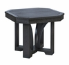 "CR Plastic Products - St Tropez 25"" Square End Table in Black - T31-14"