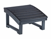 CR Plastic Products - St Tropez Footstool in Black - F30-14