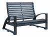 CR Plastic Products - St Tropez Love Seat in Black - B32-14