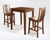 Crosley Furniture - 3 Piece Pub Dining Set with Tapered Leg and School House Stools in Classic Cherry  Finish - KD320007CH