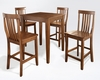 Crosley Furniture - 5 Piece Pub Dining Set with Tapered Leg and School House Stools in Classic Cherry  Finish - KD520007CH