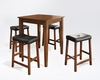 Crosley Furniture - 5 Piece Pub Dining Set with Tapered Leg and Upholstered Saddle Stools in Classic Cherry  Finish - KD520008CH