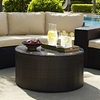 Crosley Furniture - Catalina Outdoor Wicker Round Glass Top Coffee Table - CO7121-BR
