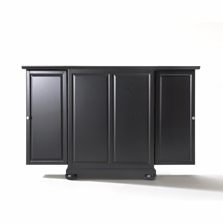 Crosley Furniture - Alexandria Expandable Bar Cabinet in Black Finish - KF40001ABK
