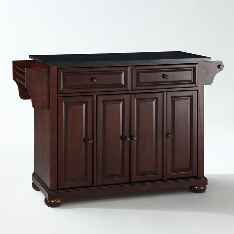 Crosley Furniture - Alexandria Solid Black Granite Top Kitchen Island in Vintage Mahogany Finish - KF30004AMA