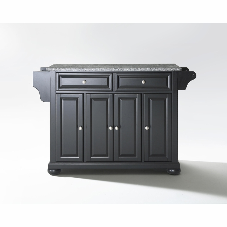 Crosley Furniture - Alexandria Solid Granite Top Kitchen Island in Black Finish - KF30003ABK