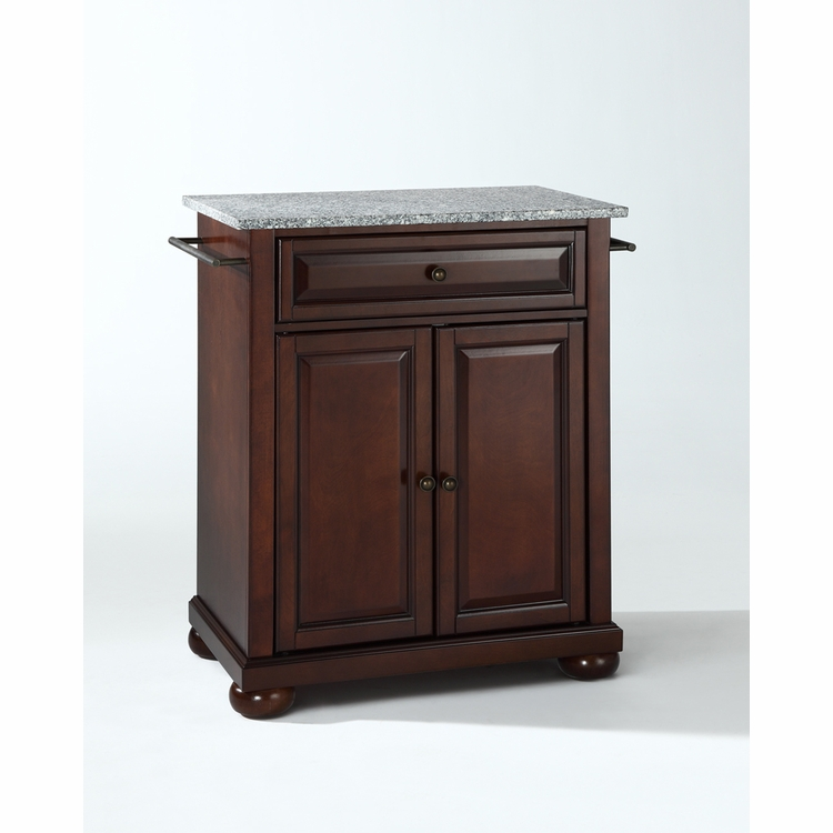 Crosley Furniture - Alexandria Solid Granite Top Portable Kitchen Island in Vintage Mahogany Finish - KF30023AMA