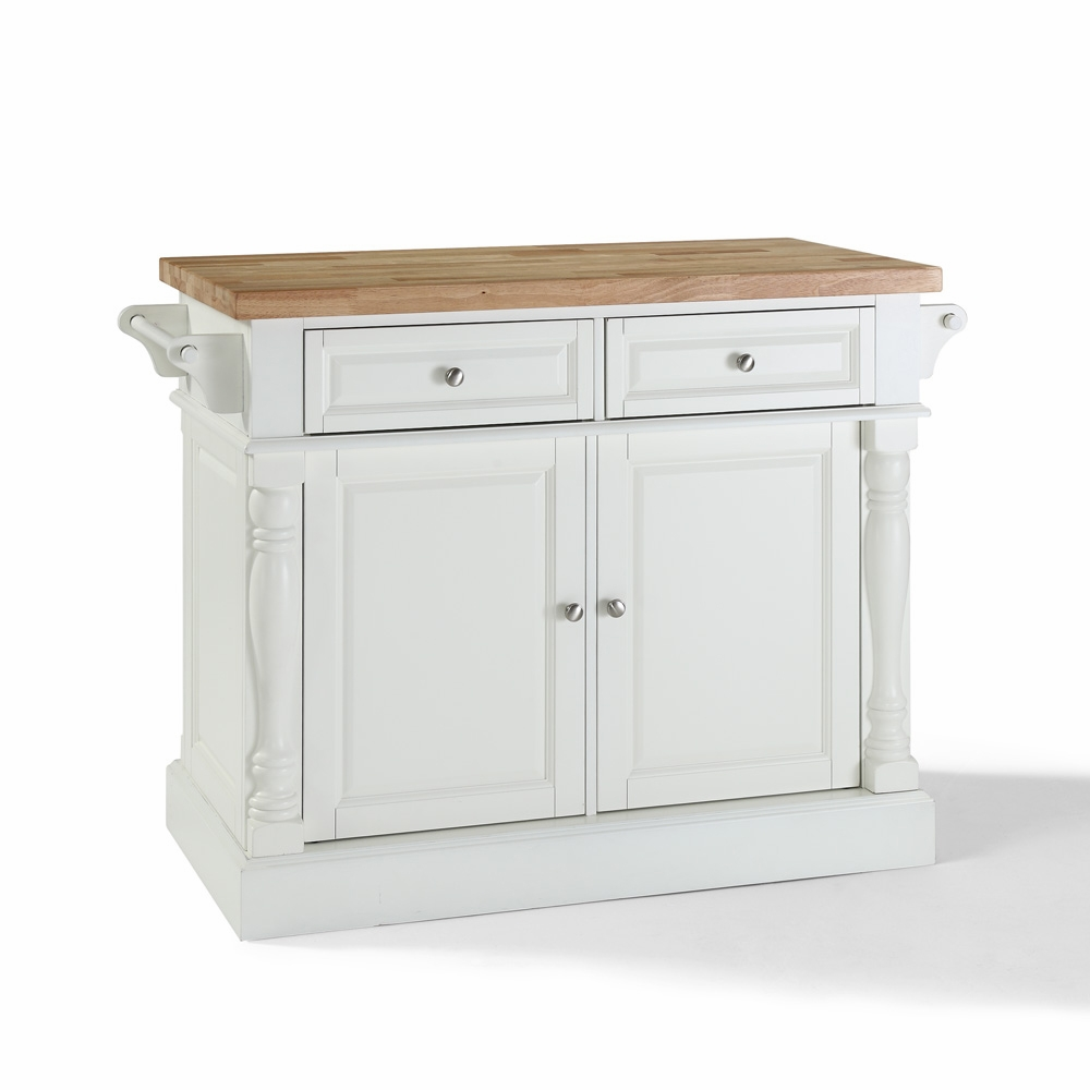 crosley butcher block top kitchen island crosley furniture butcher block top kitchen island in white finish kf30006wh 6670