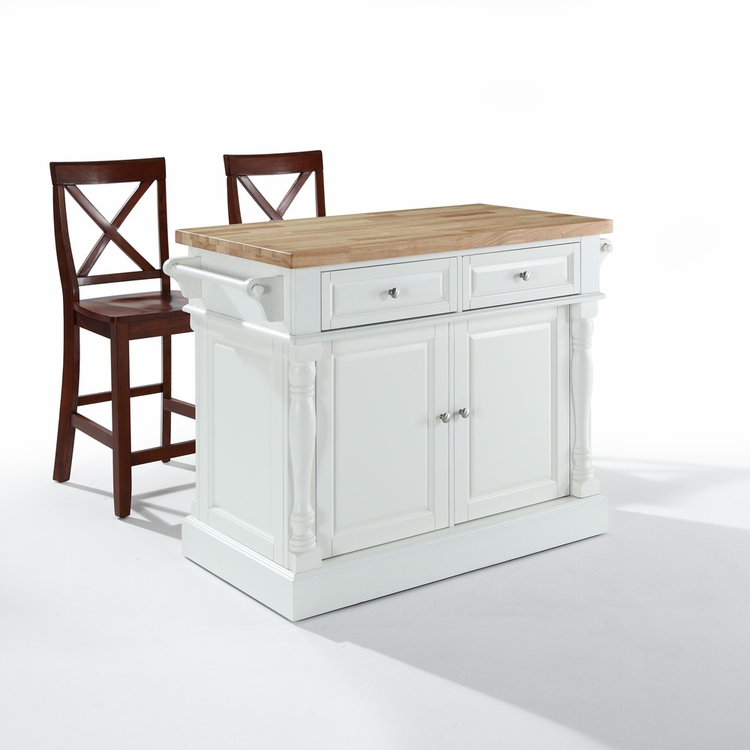 24 Kitchen Island: Butcher Block Top Kitchen Island In