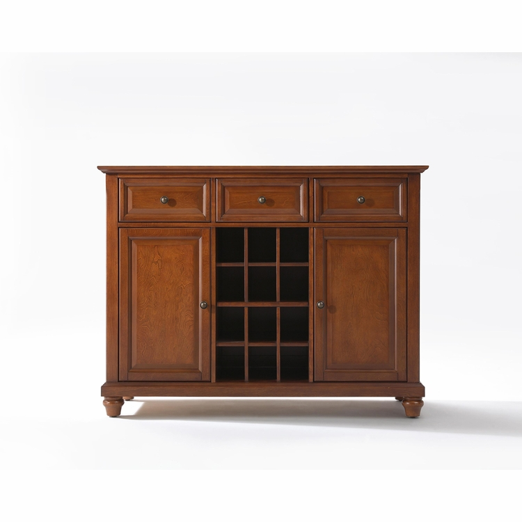 Crosley Furniture - Cambridge Buffet Server / Sideboard Cabinet with Wine Storage in Classic Cherry Finish - KF42001DCH