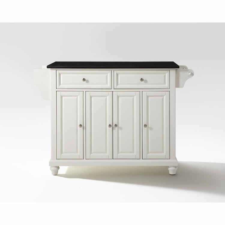 Crosley Furniture - Cambridge Solid Black Granite Top Kitchen Island in White Finish - KF30004DWH