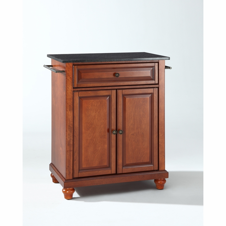 Crosley Furniture - Cambridge Solid Black Granite Top Portable Kitchen Island in Classic Cherry Finish - KF30024DCH