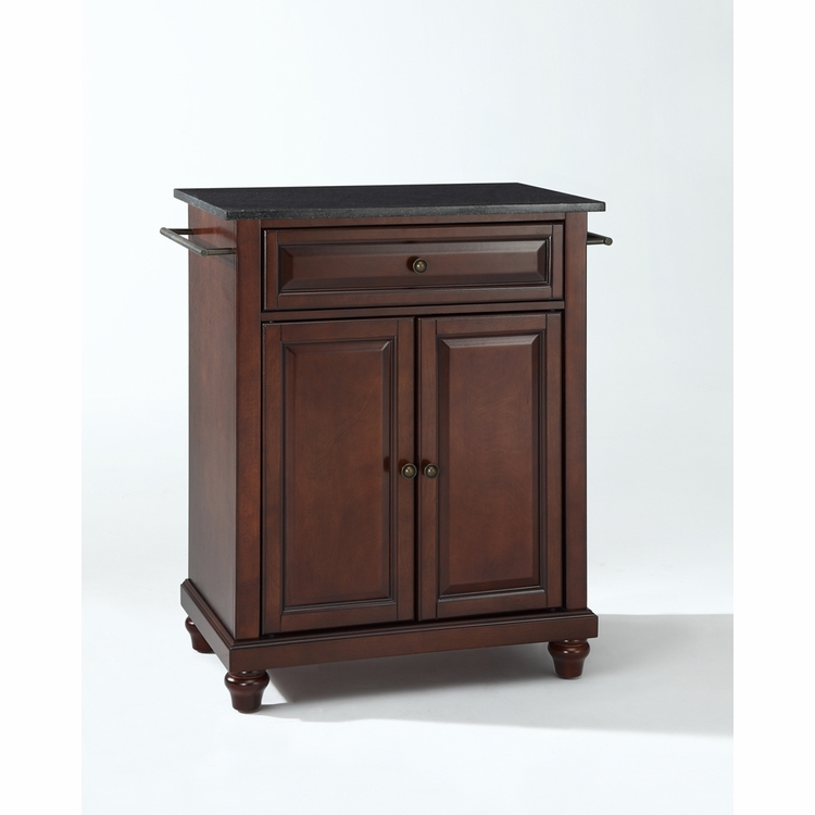 Crosley Furniture - Cambridge Solid Black Granite Top Portable Kitchen Island in Vintage Mahogany Finish - KF30024DMA
