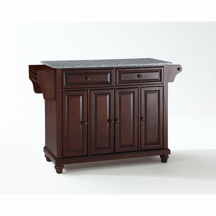Crosley Furniture - Cambridge Solid Granite Top Kitchen Island in Vintage Mahogany Finish - KF30003DMA