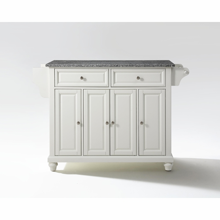 Crosley Furniture - Cambridge Solid Granite Top Kitchen Island in White Finish - KF30003DWH