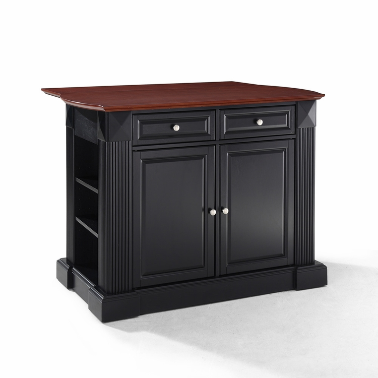 Crosley Furniture - Drop Leaf Breakfast Bar Top Kitchen Island in Black Finish - KF30007BK