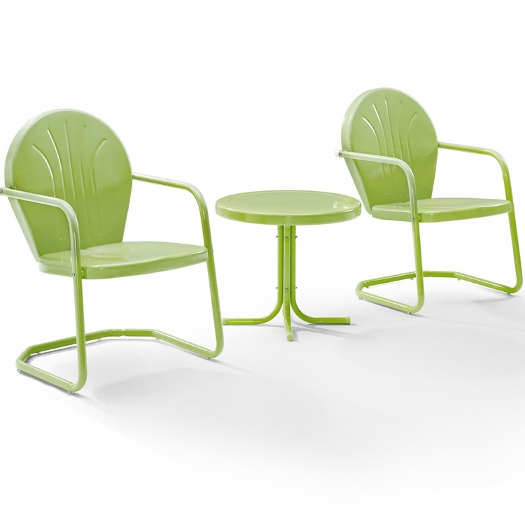 Crosley Furniture Griffith 3 Piece Metal Outdoor