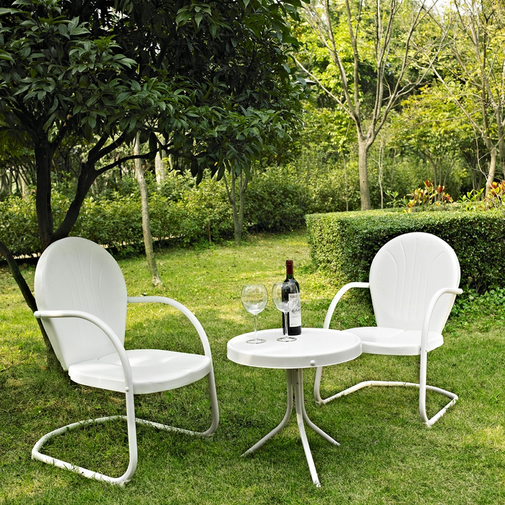 Hover to zoom - Crosley Furniture - Griffith 3 Piece Metal Outdoor Conversation