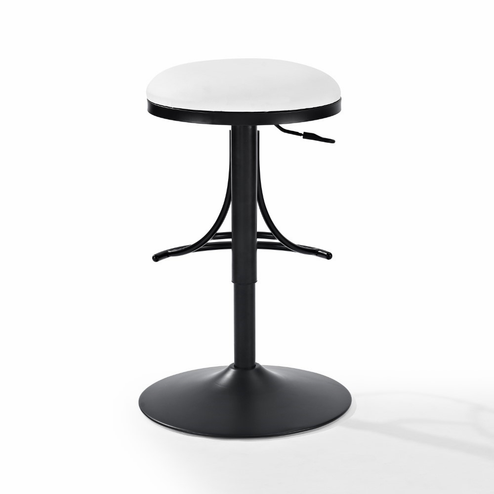 Superb Crosley Furniture Jasper Backless Swivel Counter Stool In Black With White Cushion Cf521126Bk Wh Ocoug Best Dining Table And Chair Ideas Images Ocougorg