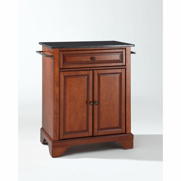 Crosley Furniture - LaFayette Solid Black Granite Top Portable Kitchen Island in Classic Cherry Finish - KF30024BCH