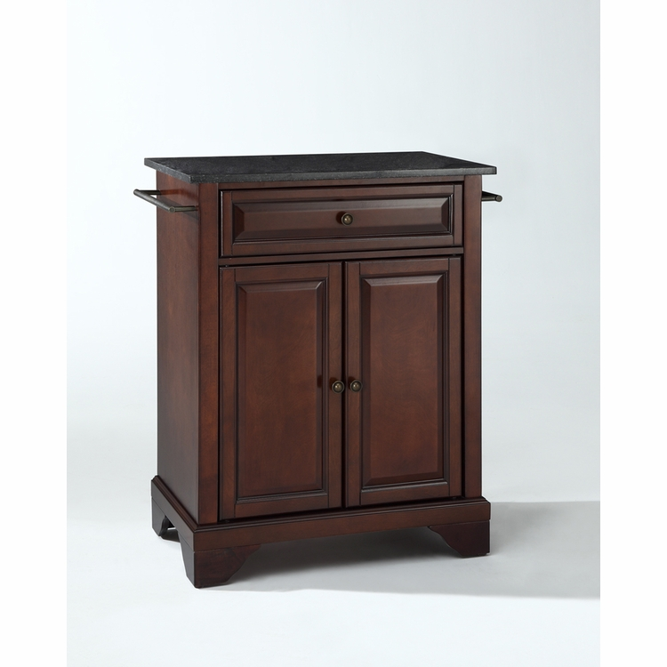 Crosley Furniture - LaFayette Solid Black Granite Top Portable Kitchen Island in Vintage Mahogany Finish - KF30024BMA