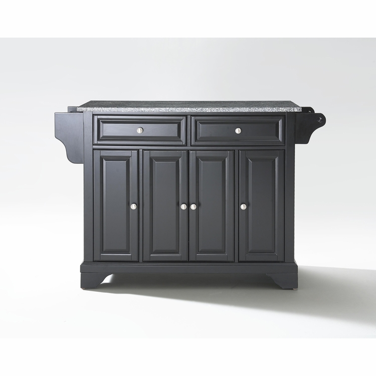 Crosley Furniture - LaFayette Solid Granite Top Kitchen Island in Black Finish - KF30003BBK