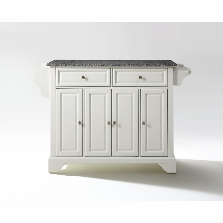 Crosley Furniture - LaFayette Solid Granite Top Kitchen Island in White Finish - KF30003BWH