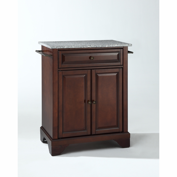 Crosley Furniture - LaFayette Solid Granite Top Portable Kitchen Island in Vintage Mahogany Finish - KF30023BMA