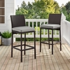 Crosley Furniture - Palm Harbor Deluxe Wicker Bar Stool in Brown Set Of 2 - KO70143BR-GY