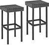 Crosley Furniture - Palm Harbor Outdoor Wicker Bar Height Stool (Set Of 2) in Weathered Gray - CO7108-WG